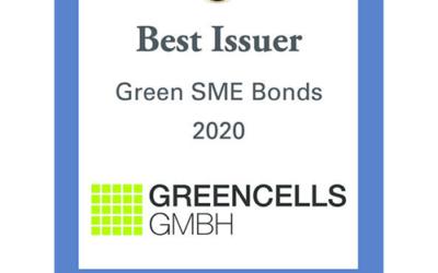 Greencells GmbH als Best Issuer SME Green Bonds 2020 ausgezeichnet