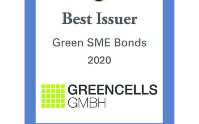 Greencells GmbH awarded Best Issuer SME Green Bonds 2020
