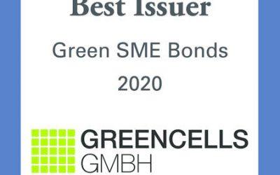 "Award ""Best Issuer Green SME Bonds 2020"" by Bond Magazine"