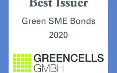 "Award ""Best Issuer Green SME Bonds 2020"" by Bond Magazine"