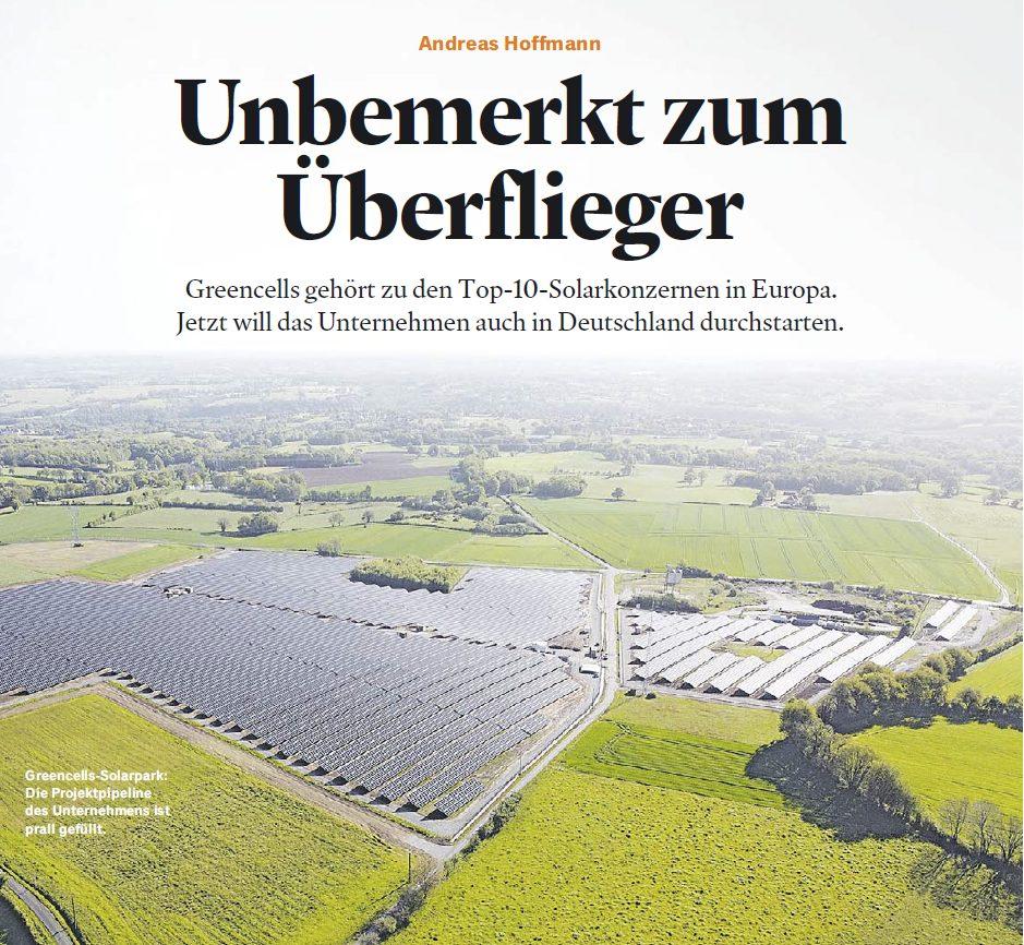 Greencells Feature im Handelsblatt