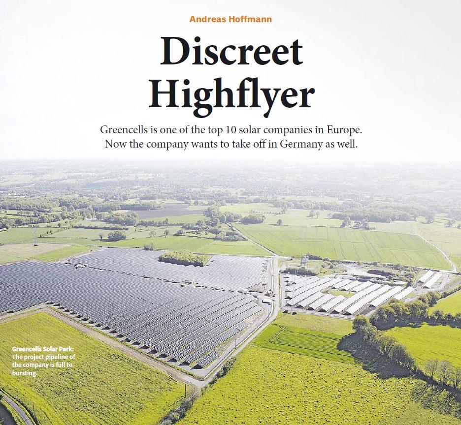 Greencells featured in German newspaper Handelsblatt